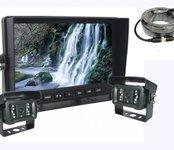 """AHD LCD monitor 7"""" cúvací set  + 2x cúvacia kamera s 18x LED IR"""