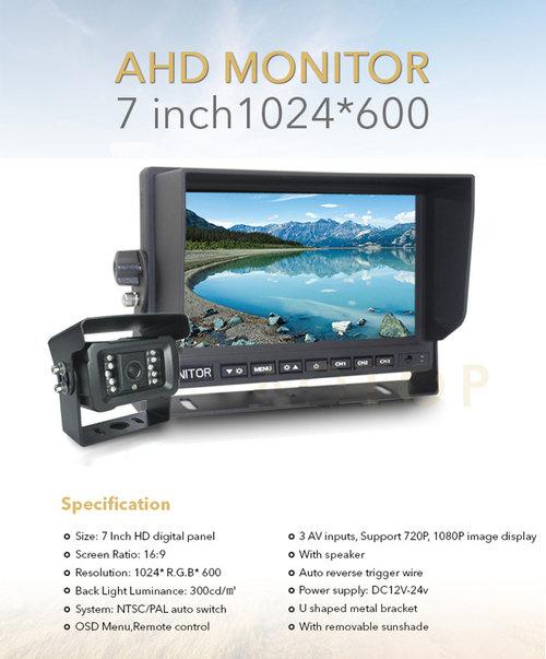 ahd monitor a kamera cúvací set