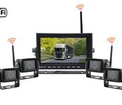 "Set - Wifi 7"" LED monitor + 4x WiFi kamera Cúvacia kamera s monitorom"