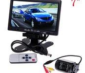 """Wifi parkovacia kamera so zabudovanými IR LED diódami + 7"""" LCD monitor"""