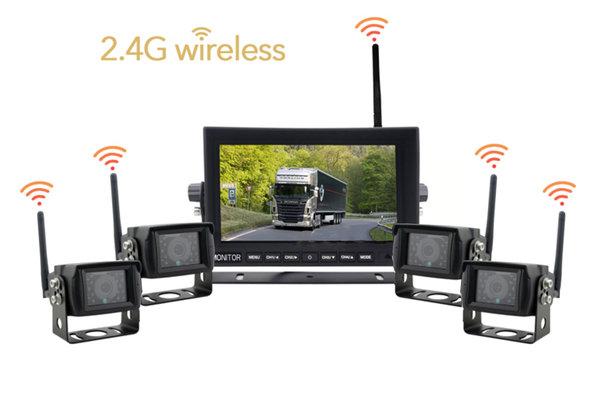 WiFi set 1x LED monitor a 4x cúvacia kamerta