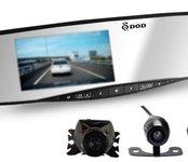 Autokamera v spätnom zrkadle DOD RX300W + cúvacia kamera