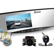 Spätné zrkadlo kamera s GPS - DOD RX400W  + cúvacia kamera