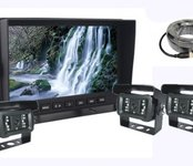"7"" AHD LCD parkovací monitor + 3x kamera s 18 IR LED nočným videním"
