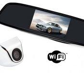 """Spätné zrkadlo s 4,3"""" LCD + parkovacia kamera s navigačnými čiarami"""