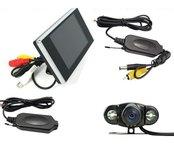 "Parkovací set - LCD monitor 3,5"" + Wifi parkovacia kamera"